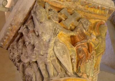 Eglise de St Nectaire, détail chapiteau